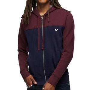 True Religion Men's Full Zip Hoodie Sweatshirt
